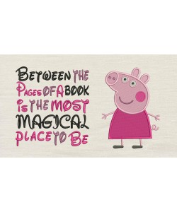Peppa Pig embroidery with Between the Pages