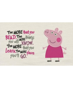 Peppa Pig embroidery with the more that you read