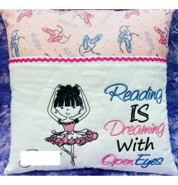 Ballerina with reading is dreaming designs