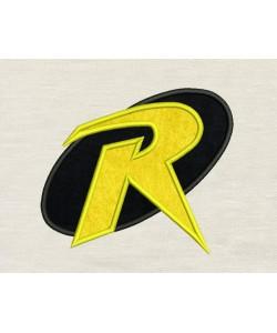 Robin logo applique design