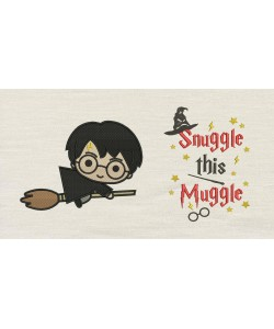 Harry potter Broom with Snuggle