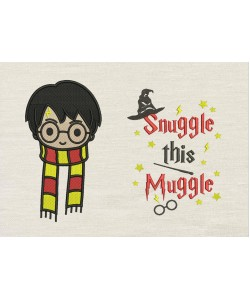 Harry potter face scarf with Snuggle