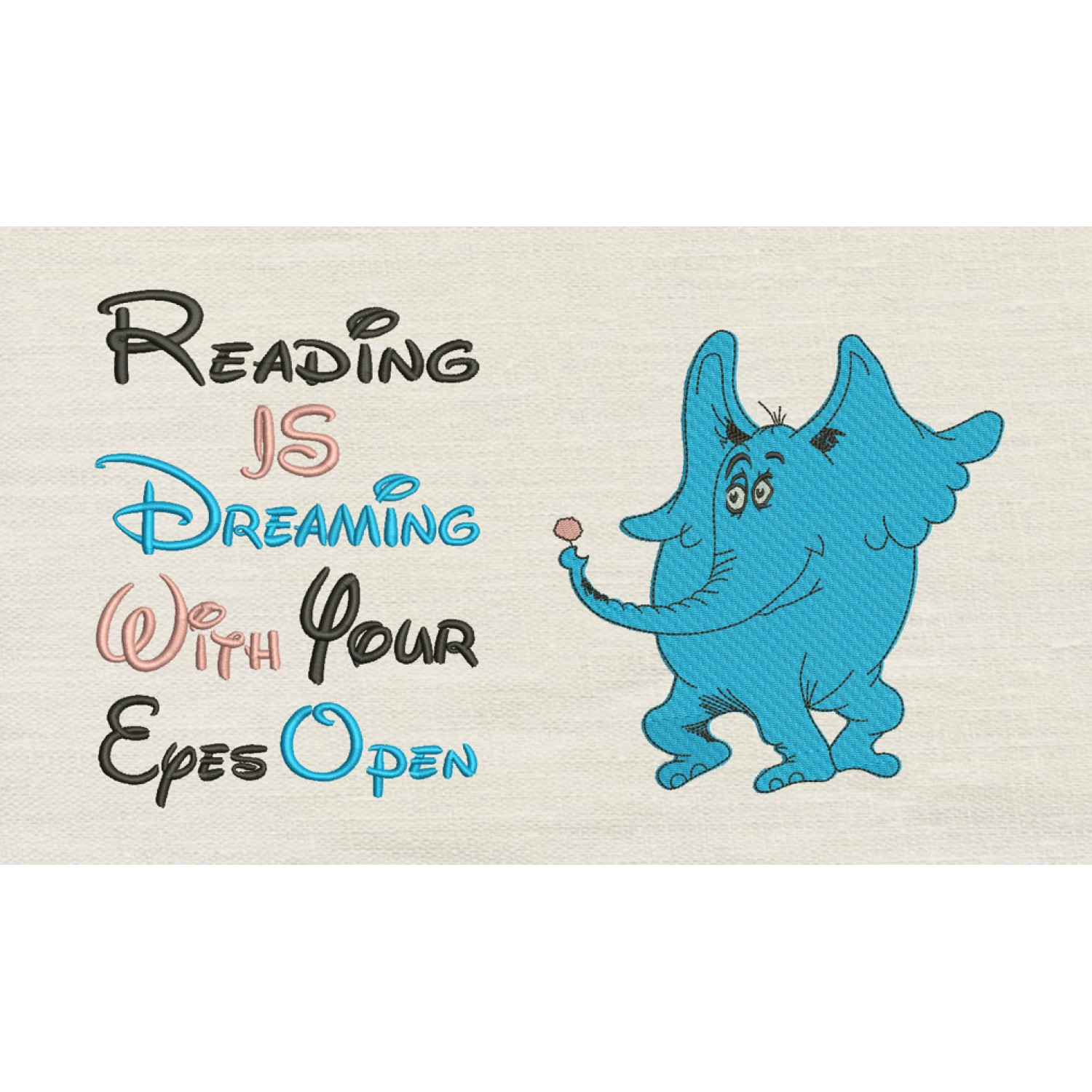 Horton with reading is dreaming
