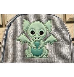 Baby Dragon Applique Design Embroidery