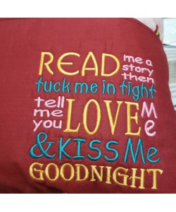 Read me story Machine Embroidery Design