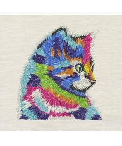 Cat Art embroidery design