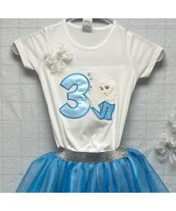Elsa Frozen with number 3 design