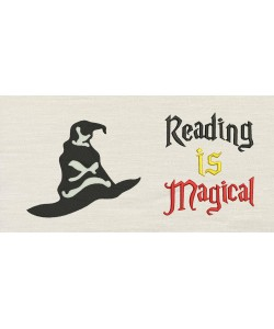 Harry sorting hat with Reading is Magical