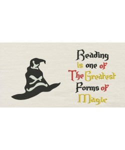 Harry sorting hat with Reading is one designs