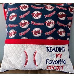Baseball with reading is my favorite sport designs