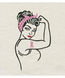 Rosie The Riveter Ribbon design