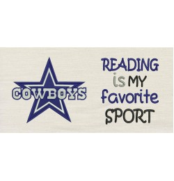 Dallas Cowboys with reading is my favorite sport