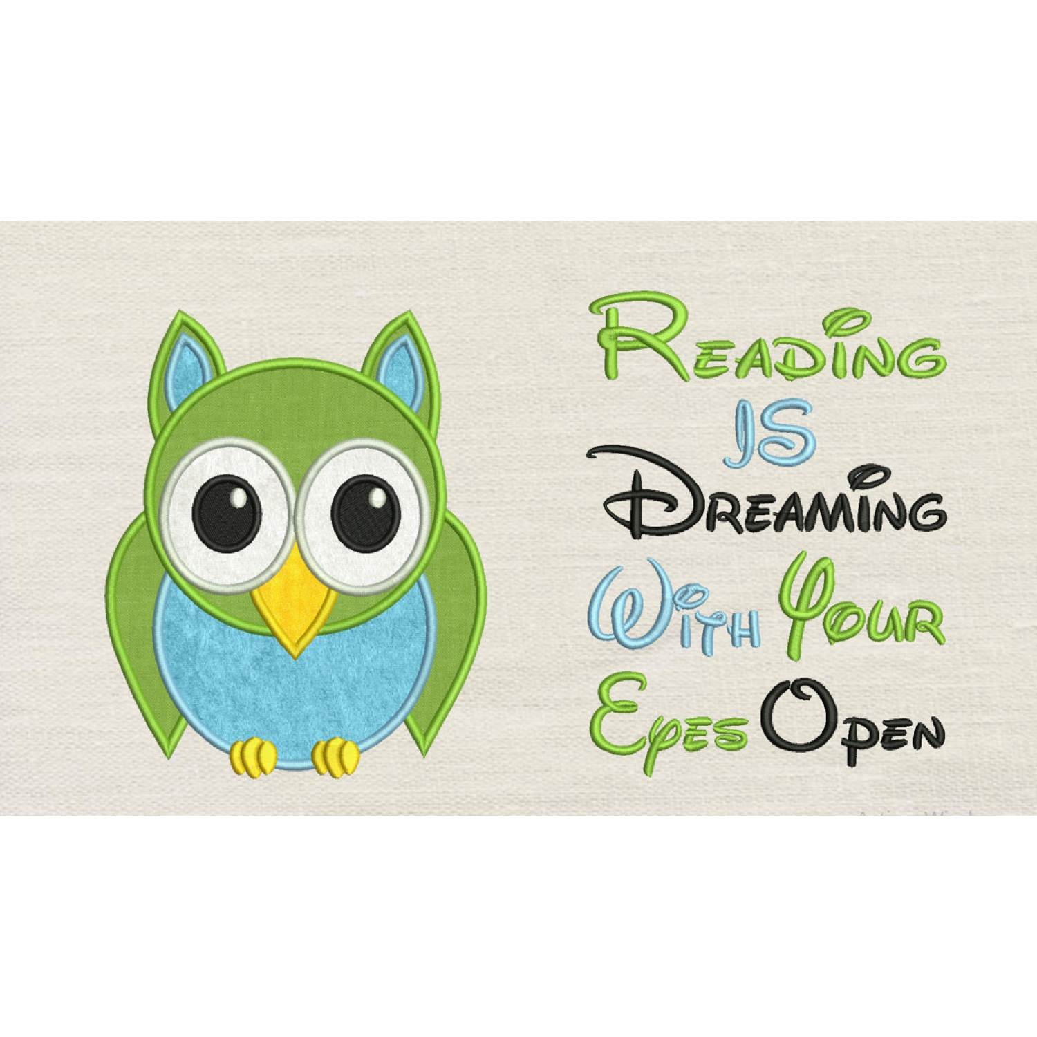 Owl with reading is dreaming