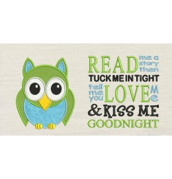 Owl with read me a story designs