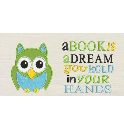 Owl with a book is a dream