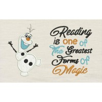 Olaf with read Reading is one of