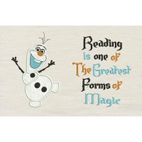 Olaf with read Reading is one