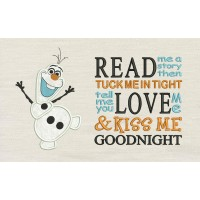 Olaf with read me a story