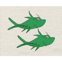 Two fish design embroidery