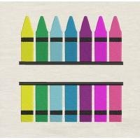Crayon design embroidery
