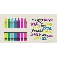 Crayon with the more that you read