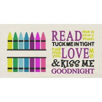 Crayon with read me a story