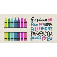 Crayon with Between the Pages