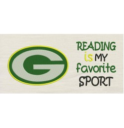 Green Bay Packers with reading is my favorite sport
