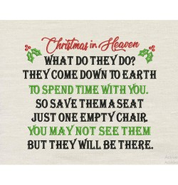 Christmas in Heaven embroidery