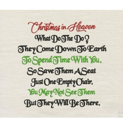 Christmas in Heaven v3 embroidery