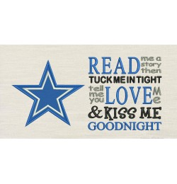 Dallas Cowboys star with read me a story