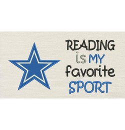 Dallas Cowboys star with reading is my favorite sport