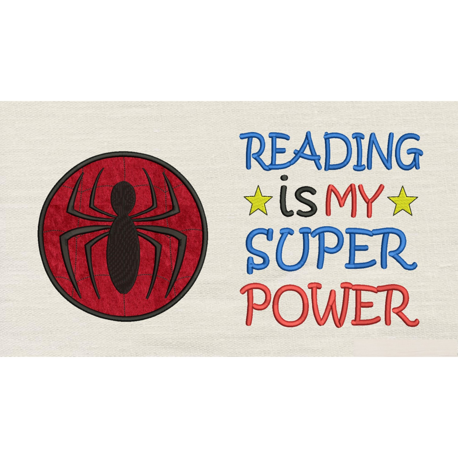 Spiderman Circle with Reading is My Superpower