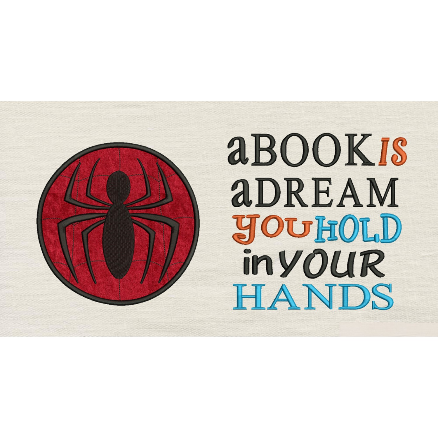 Spiderman Circle with a book is a dream