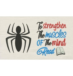 Spiderman logo with To strengthen