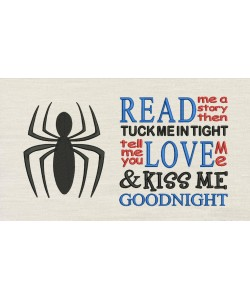 Spiderman logo with Read me a story