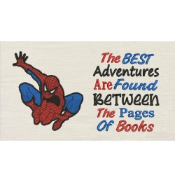 Spiderman lonway embroidery with The best