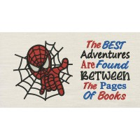 Spiderman embroidery with The best
