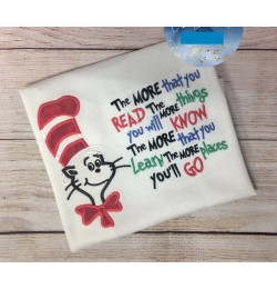 Dr. Seuss applique with the more that you read
