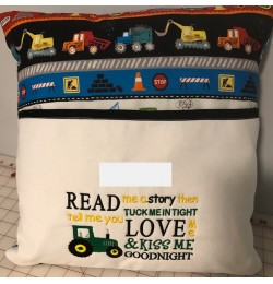 Read me a story tractor machine embroidery