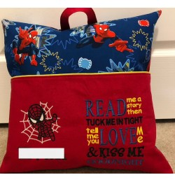 Spiderman applique with read me a story designs