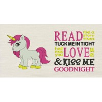 Unicorn girl with Read me a story