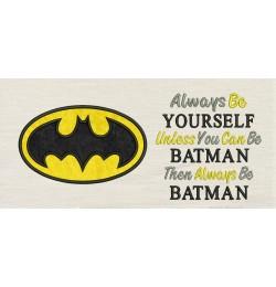 Batman logo with Always Be Batman
