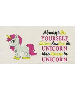 Unicorn girl with Always Be Unicorn