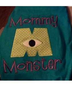 mommy monster applique