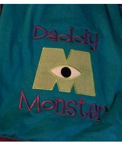 daddy monster applique