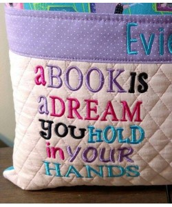 a book is a dream embroidery