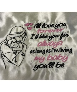 ill love you baby embroidery