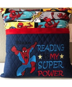 spiderman grand with Reading is My Super power v2 2 designs 3 sizes