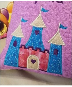 castle princess embroidery